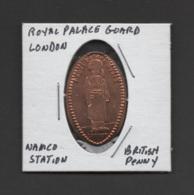 Pressed Penny, Elongated Coin, Royal Palace Guard, London, England - Pièces écrasées (Elongated Coins)