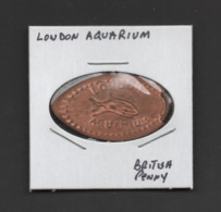 Pressed Penny, Elongated Coin, London Aquarium, England - Pièces écrasées (Elongated Coins)