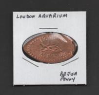 Pressed Penny, Elongated Coin, London Aquarium, England - Souvenirmunten (elongated Coins)