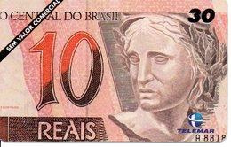Télécarte Brésil   - Billet Monnaie Money Pièce Numismatique Bank Banque  Phonecard  (G 699) - Timbres & Monnaies