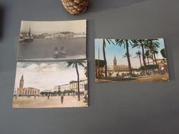 3 Cp BONE Vue Sur Le Port Avenue Bertagna Et Quai Warnier. Les Jardins Et La Gare. Place De La Gare. - Annaba (Bône)