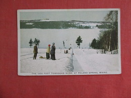 Winter Sports --  1500 Foot Toboggan Slide  Poland Spring Maine   .   Ref 3114 - Winter Sports