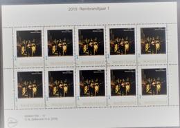 Nederland  2019 Rembrandtjaar   Painting Nachtwacht Nightwatch  Vel-sheetlet   Postfris/mnh/neuf - Period 1980-... (Beatrix)