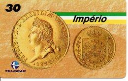 Télécarte Brésil   - Billet Monnaie Money Pièce Numismatique Bank Banque  Phonecard  (G 701) - Timbres & Monnaies
