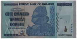 Zimbabwe, 100 Trillion Dollars, Silver-Plated, Colored Banknote - Zimbabwe