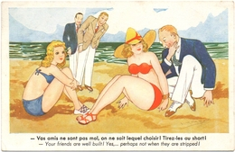 CPSM HUMOUR. PIN'UP. PLAGE - Humor