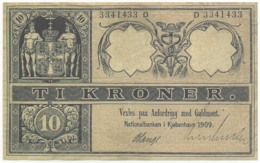 Denmark, 1909, Ti Kroner, Reproduction Banknote - Denemarken