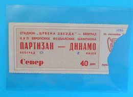 FK PARTIZAN : DYNAMO Kyiv Kiev Ukraine - 1976. UEFA CHAMPIONS LEAGUE Football Soccer Ticket Billet Foot Fussball Ukraina - Tickets D'entrée