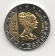 Denmark 2002, 2 Euro, Trial Probe Essai, UNC - Denemarken