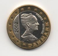 Denmark 2002, 1 Euro, Trial Probe Essai, UNC - Denemarken