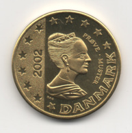Denmark 2002, 50 Euro Cent, Trial Probe Essai, UNC - Denemarken
