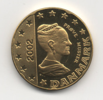 Denmark 2002, 20 Euro Cent, Trial Probe Essai, UNC - Denemarken