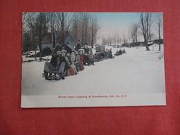 Winter Sport  Coasting At Woodbourne  Sull. Co. NY     Ref 3114 - Winter Sports