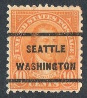 """USA Precancel Vorausentwertung Preo, Locals """"SEATTLE"""" (Wash). - Estados Unidos"""