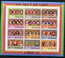 74823) ST. Vincent 1977- QEII ARGENTO GIUBILEO - SERIE COMPLETA-MNH** - St.Vincent (1979-...)