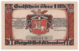 Germany 1922, 1 Mark, Bad Albersdorf, Notgeld, UNC - [11] Lokale Uitgaven