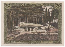 Germany 1921, 70 Pfennig, Fallinbostel, Notgeld, UNC - [11] Lokale Uitgaven