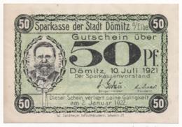 Germany 1921, 50 Pfennig, Dömitz, Notgeld, UNC - [11] Lokale Uitgaven
