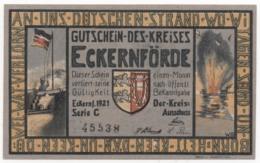 Germany 1921, 1 Mark, Eckernförde, Notgeld, UNC - [11] Lokale Uitgaven