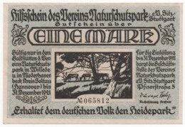 Germany 1921, 1 Mark, Stuttgart, Notgeld, UNC - [11] Lokale Uitgaven
