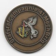Netherlands: Stafstafcompagnie 41 MechBrig. Military Coin, Medal - Andere Landen