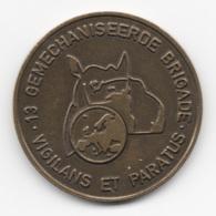 Netherlands: 13 Gemechaniseerde Brigade. Military Coin, Medal - Medailles & Militaire Decoraties