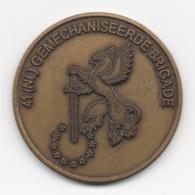Netherlands: 41 (NL) Gemechaniseerde Brigade. Military Coin, Medal - Andere Landen