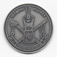 Netherlands: Regiment Huzaren. Military Coin, Medal - Medailles & Militaire Decoraties