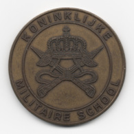 Netherlands: Koninklijke Militaire School. Military Coin, Medal - Medailles & Militaire Decoraties