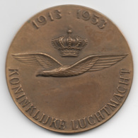 Netherlands: 1913-1953 Koninklijke Luchtmacht. Military Coin, Medal - Andere Landen
