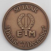 Netherlands: 50 Jaar 1Divisie 7 December. Military Coin, Medal - Medailles & Militaire Decoraties