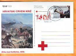 Croatia 2018 Y Postcard Overprint Red Cross Postmark Zagreb 08.12. - Kroatien