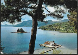 GRECIA - CORFU' - PONTICONISSI - VIAGGIATA 1967 FRANCOBOLLO ASPORTATO - Grecia