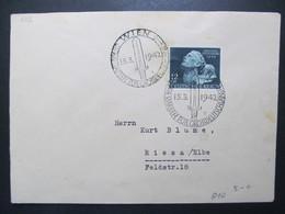 DR Nr. 812, 1942, Brief, EF, Sonderstempel Wien *DEL2120* - Briefe U. Dokumente