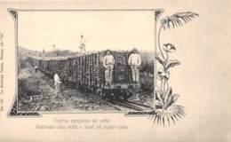 Cuba - Other / 01 - Carros Cargados De Cana - Railroad Cars - Défaut - Cuba