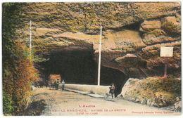 CPA LE MAS D'AZIL - Entrée De La Grotte Côté Village - Animée - Attelage - Ed. Labouche Frères N°755 - France