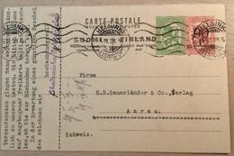 Finland Postal Stationery Card HELSINKI 1928> Schweiz (entier Postal Cover Lettre Ganzsache Brief Suomi Finnland - Finlandia