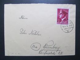 DR Nr. 813, 1944, Brief, EF  *DEL2121* - Briefe U. Dokumente