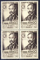 +B1555. France 1948. Journée Du Timbre. Arago. Bloc Of 4. Yvert 794. MNH(**) - France