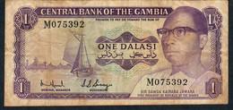GAMBIA P4e  1 DALASI 1971 Signature 5  #M     VF   NO P.h. - Gambie
