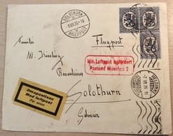Finland 1926 PAR AVION/ LUFTPOST MÜNCHEN Cover HELSINKI> Schweiz (lettre Ganzsache Brief Suomi Finnland - Briefe U. Dokumente