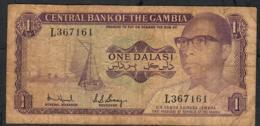 GAMBIA P4e  1 DALASI 1971 Signature 5  #L     VF   NO P.h. - Gambia