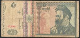 ROMANIA  P103 500 LEI 1992  #D0011 FINE NO P.h. - Roumanie