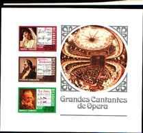 74828) Nicaragua BF - 1975 GRANDES Cantantes DE OPERA-NON DENTELLATO-MNH** - Nicaragua