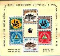 74829) 1958 NICARAGUA EXPO BRUXELLES BF 86 -MNH** - Nicaragua