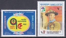 Bangladesch Bangladesh 1982 Organisationen Pfadfinder Scouts Jugend Youth Persönlichkeiten Baden-Powell, Mi. 167-8 ** - Bangladesch