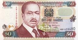 Kenya 50 Shillings, P-36a2 (1.1.1996) - UNC - Black Signature Version - Kenya