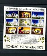 74830) Nicaragua - 1972 Leggenda Della Rosa Di Natale-Foglio In Miniatura -MNH** - Nicaragua