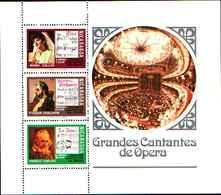 74832) Nicaragua BF 120 - 1975 GRANDES Cantantes DE OPERA-MNH** - Nicaragua