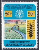 Bangladesch Bangladesh 1981 Organisationen UNO ONU FAO Welternährungstag Ernährung Nutrition Reisfeld Rice, Mi. 163 ** - Bangladesch